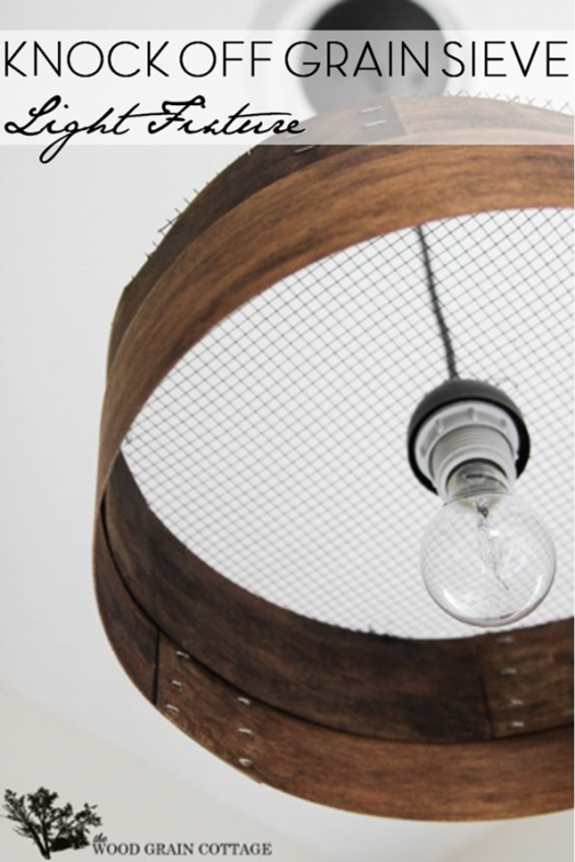 Farmhouse Grain Sieve Light Fixture