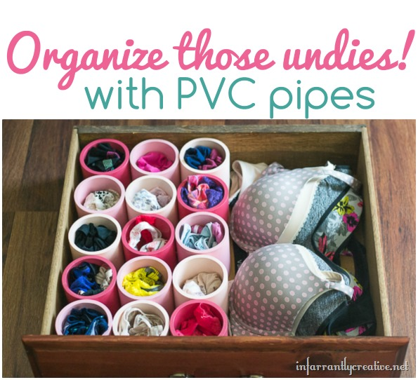 organize those undies with pvc pipes