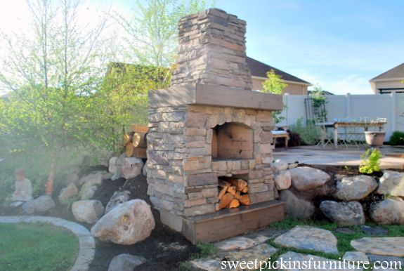Backyard Fireplace Diy : outdoorfireplacediy