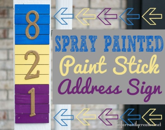 Krylon Painted Paint Stick Address Sign