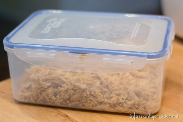 storing shredded chicken