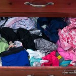 unorganized underwear drawer
