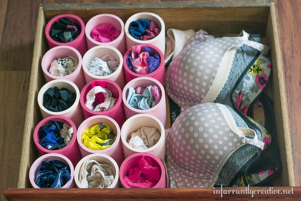 underwear drawer organization