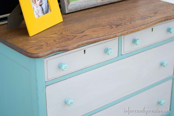 FolkArt painted dresser