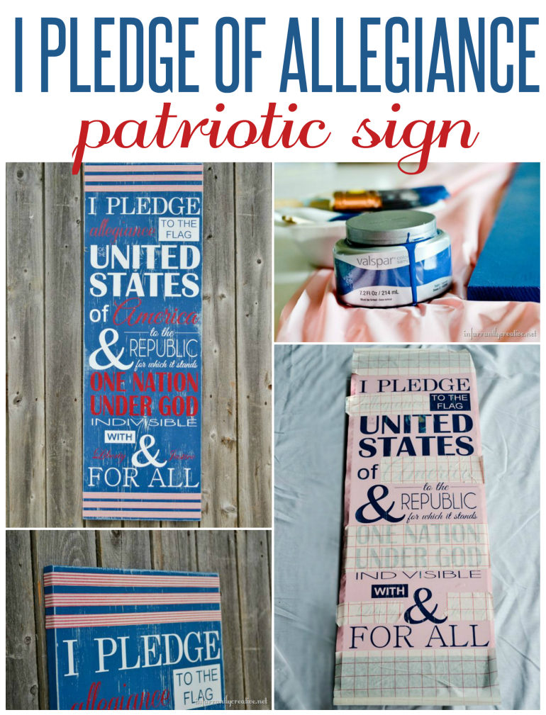 I Pledge of Allegiance Patriotic Sign