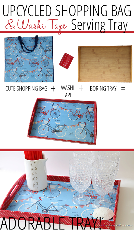 Upcycled Shopping Bag Serving Tray