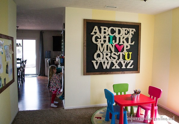 alphabet art sign