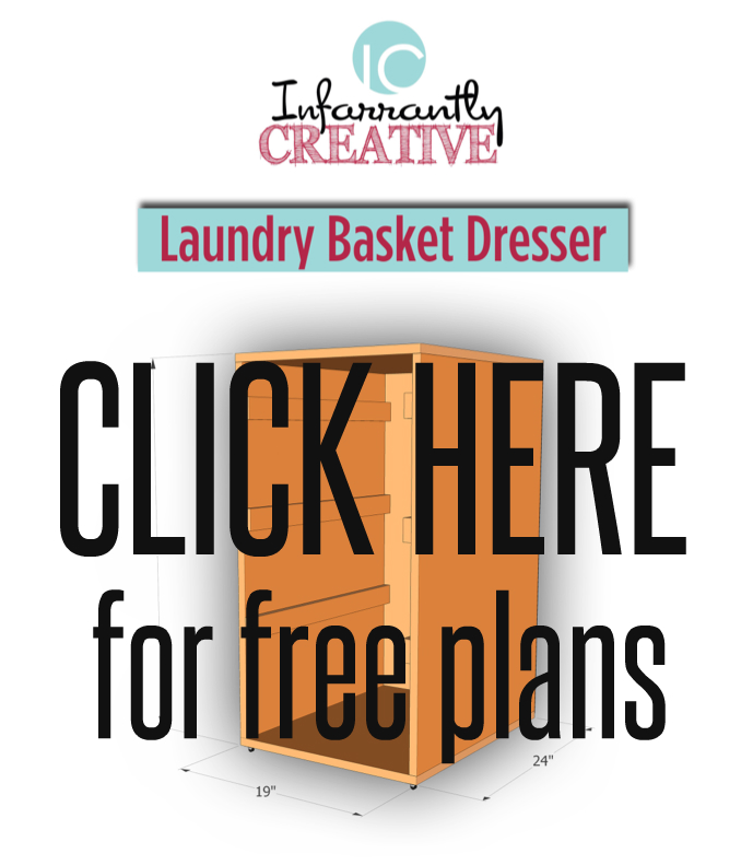 free plans for the laundry basket dresser