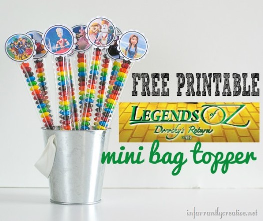 Legends of Oz Free Printable Toppers