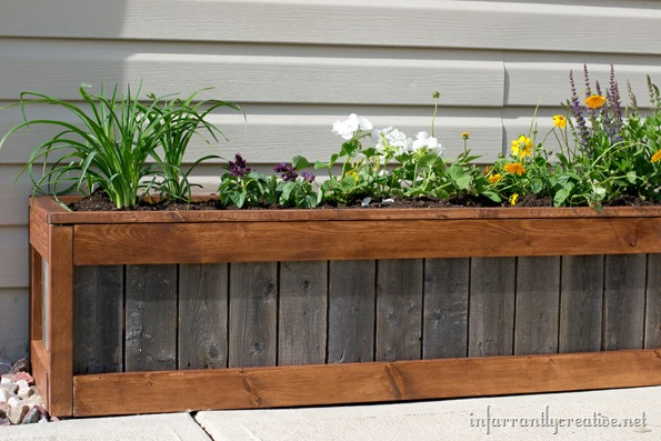 """something old something new planter box"