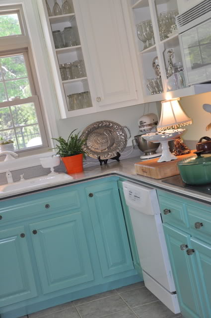 turquoise painted kitchen cabinets 5 ways to get this look turquoise laundry room 27334