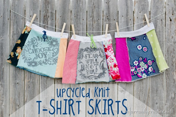 upcycled knit tshirt skirts