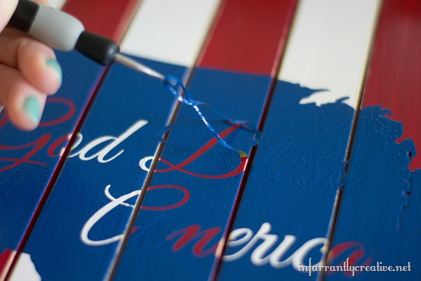 DIY patriotic sign