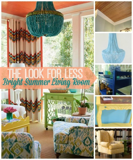 5 Ways to Get This Look:  Summer Color Living Room