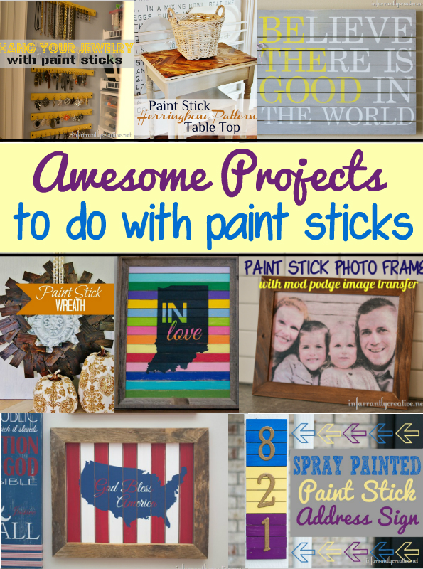 Paint Stir Stick Projects Infarrantly Creative