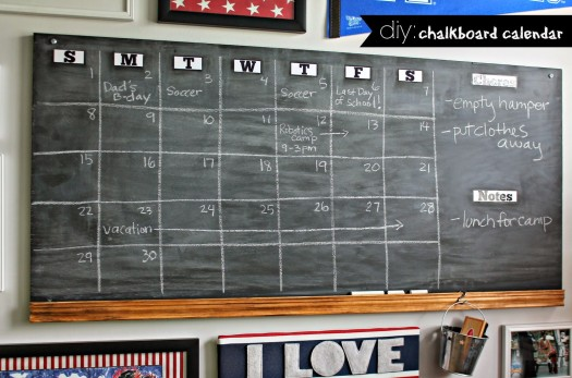 how to make a chalkbaord calendar