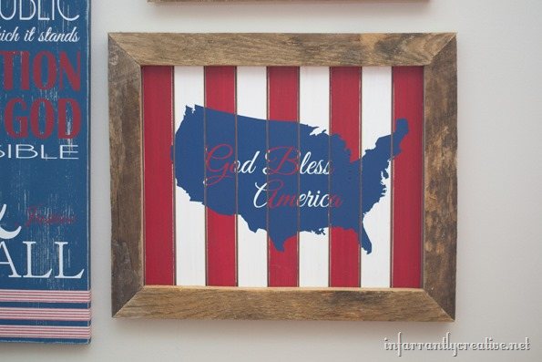 God Bless America Sign Made With Paint Sticks