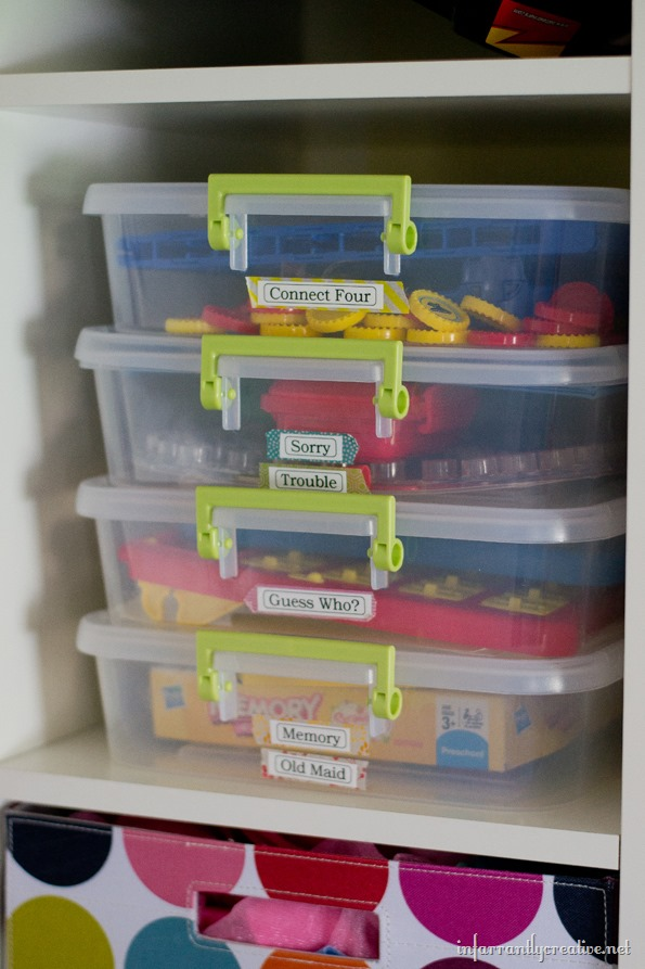 storing board games
