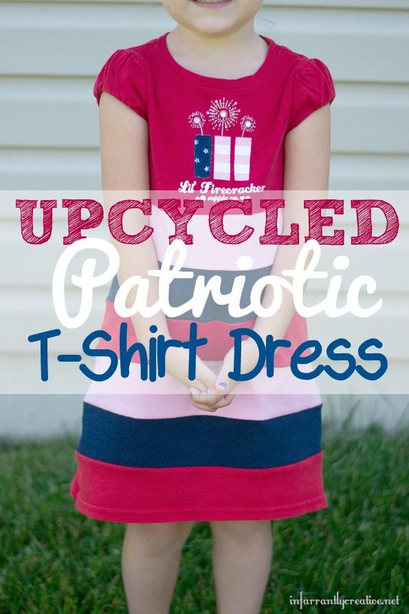 upcycled patriotic tshirt dress