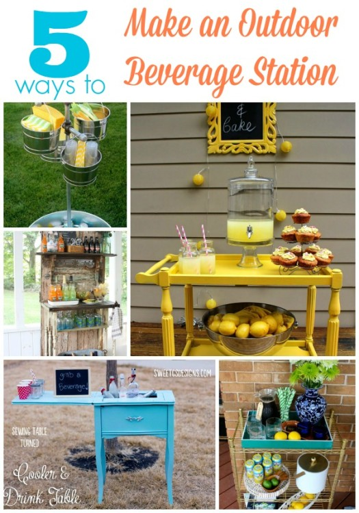 5 Ways to Create an Outdoor Beverage Station
