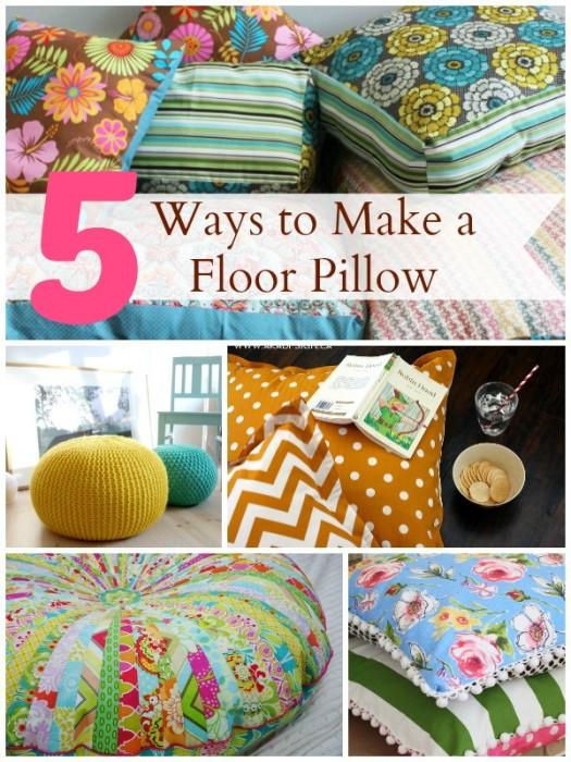Floor Pillow 5 Ways