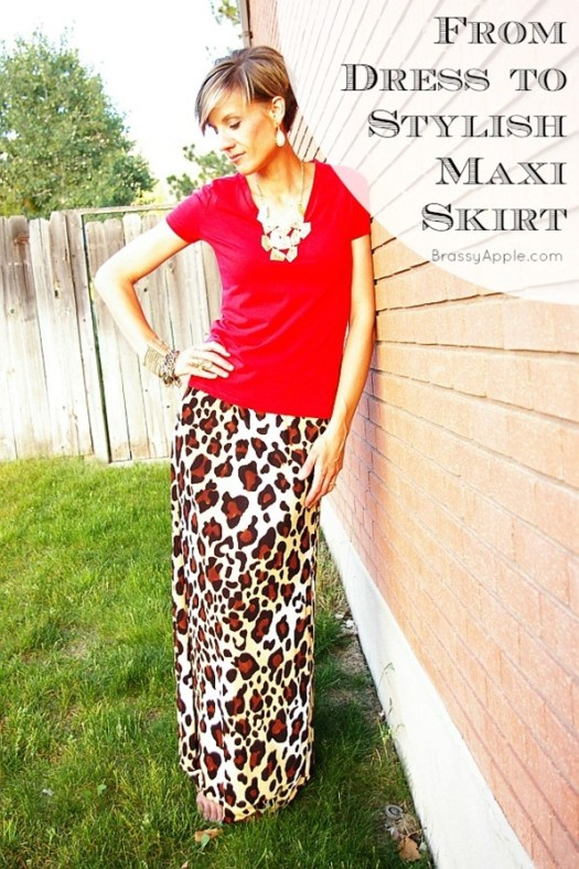 How to Refashion a Dress Into a Maxi SKirt