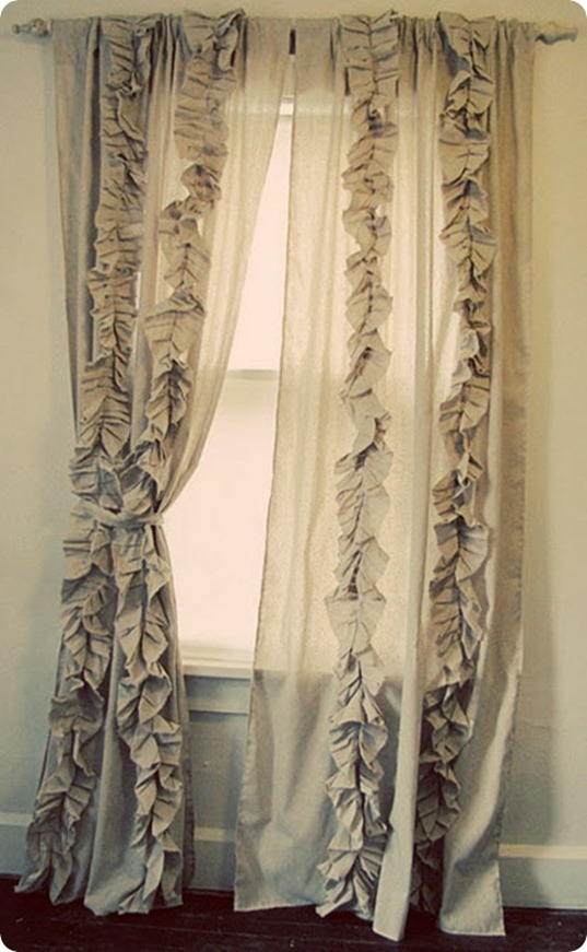 anthropologie inspired ruffled curtains