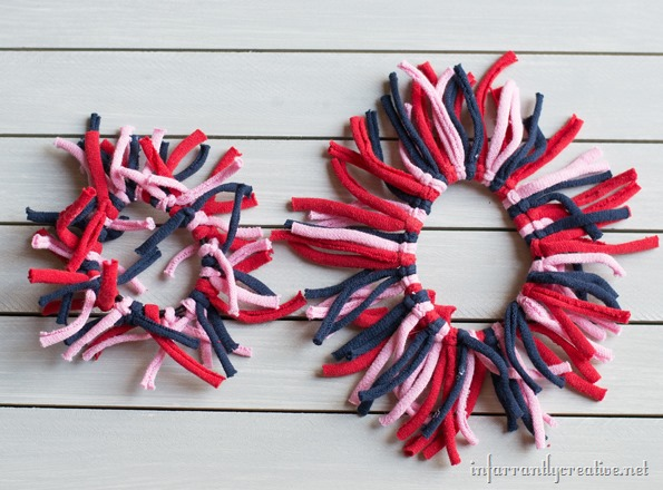 red white blue hairbows