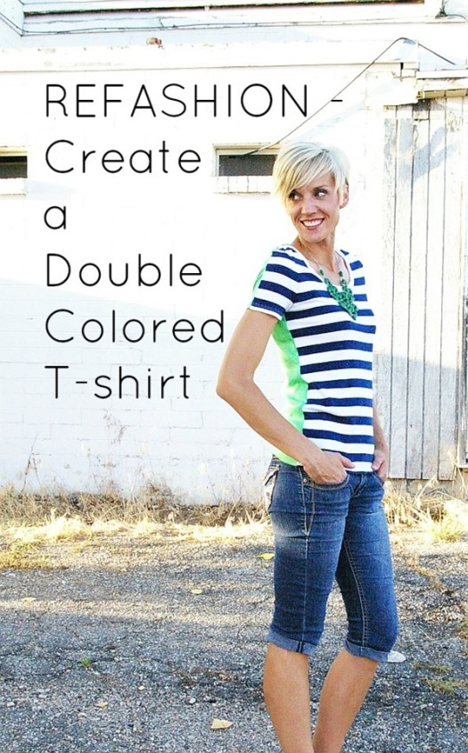 T-shirt Upcycle: Two Toned Top