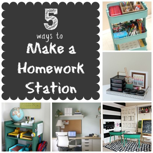 5 Ways to Make a Homework Station