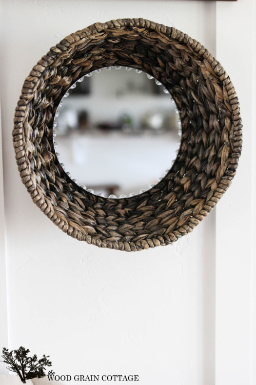 DIY Wicker Basket Mirror
