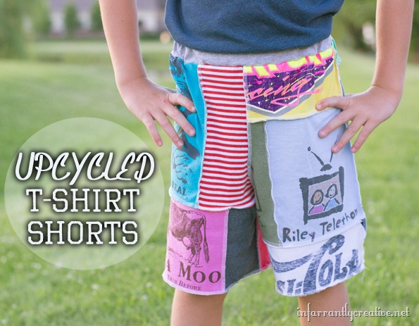 Upcycled tshirt shorts