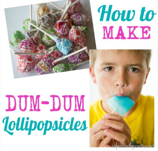 Dum-Dumsicles {Popsicles made from DUM-DUM Pops)