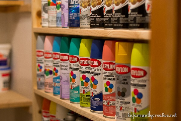 Diy Spray Paint Shelf Holds 117 Cans Infarrantly