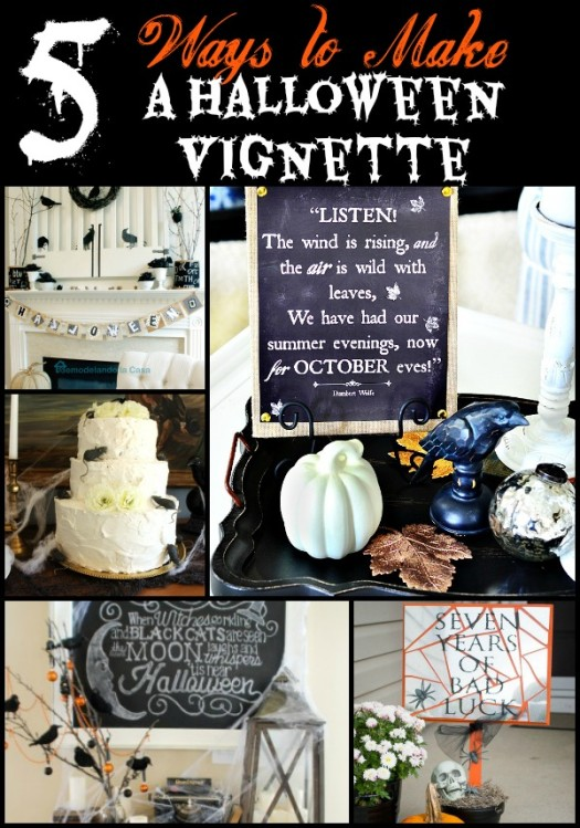 5 Ways to Make a Halloween Vignette