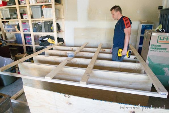 how to build garage shelves infarrantly creative. Black Bedroom Furniture Sets. Home Design Ideas