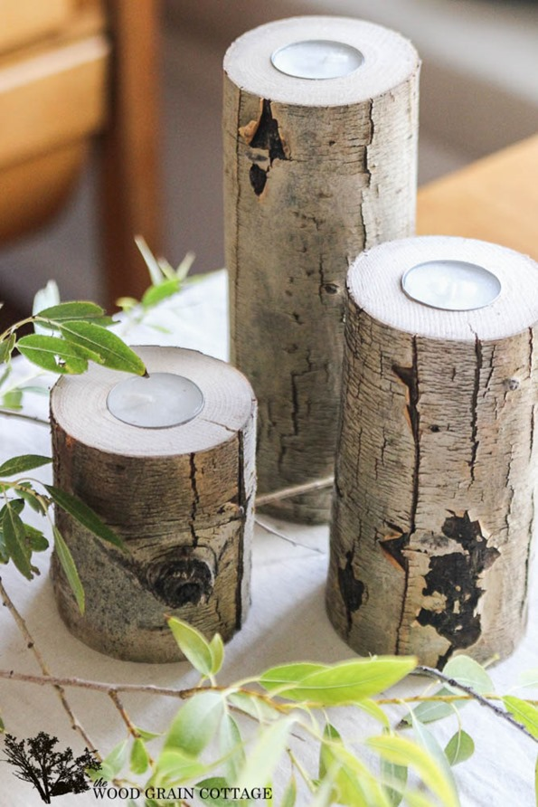 Wood Branch Candle Holder Infarrantly Creative