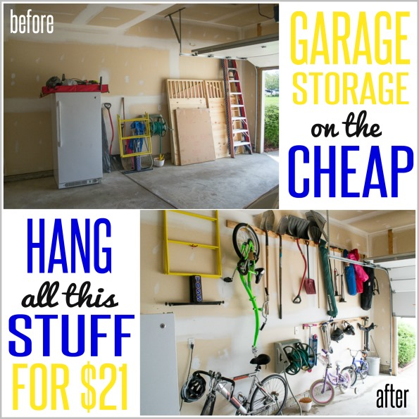 How to hang stuff in your garage on the cheap for Cheap house stuff