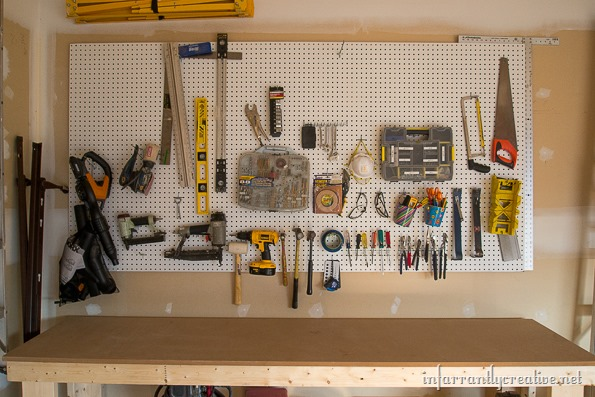 Garage Organization Diy Workshop Infarrantly Creative
