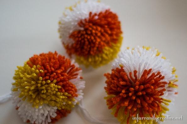 Pom Pom Flowers In Mirrored Boo Jars Infarrantly Creative
