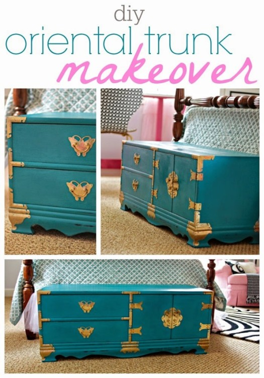 DIY Oriental Trunk Makeover