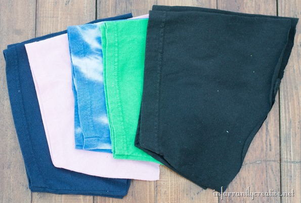 upcycled tshirt pouches