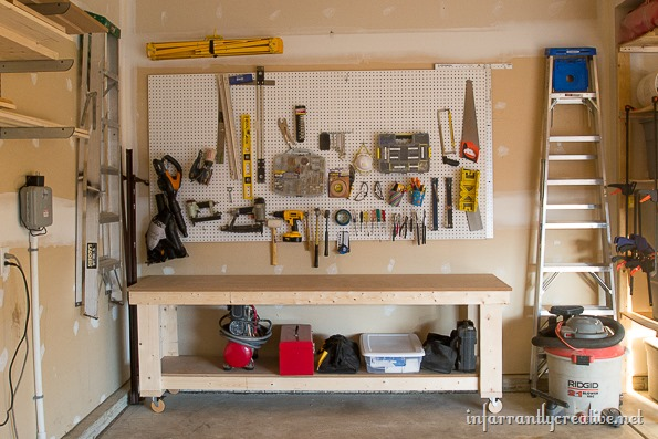 workbench pegboard ideas 1