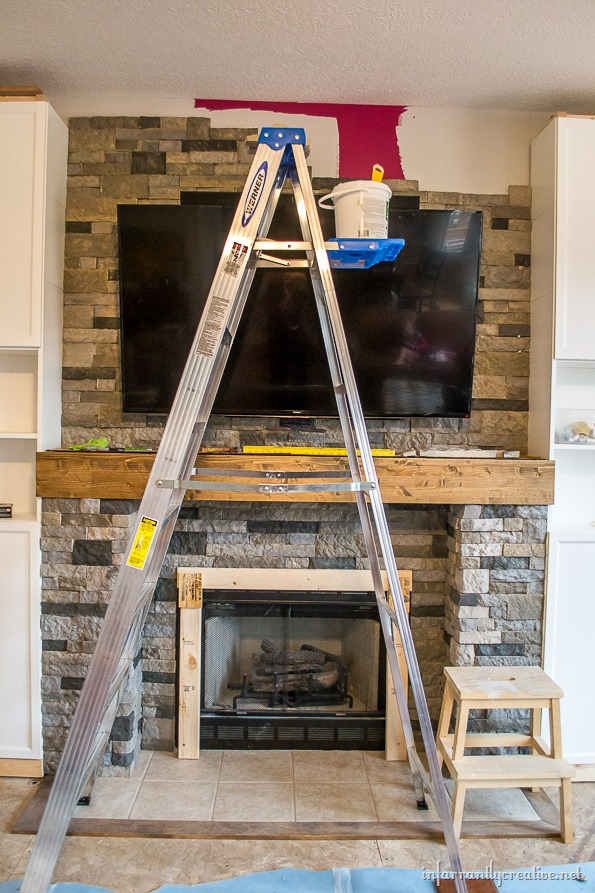 diy stone fireplace