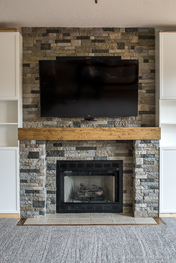 Family Room Makeover Part 4 AirStone Fireplace