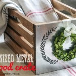 DIY Galvanized Wood Crate