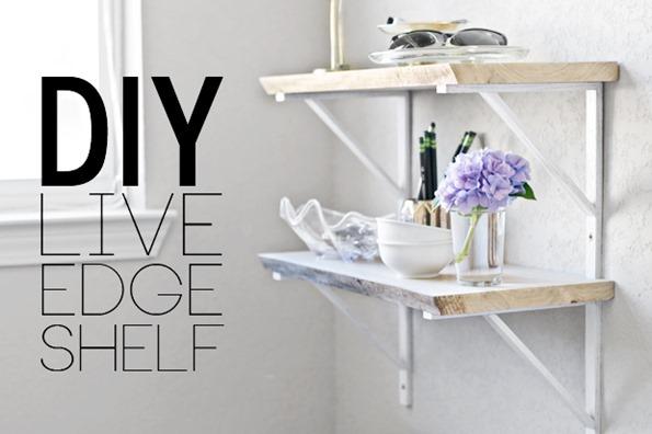 Diy Live Edge Shelf Infarrantly Creative