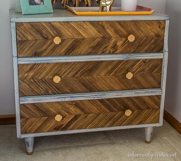 dresser with herrington pattern