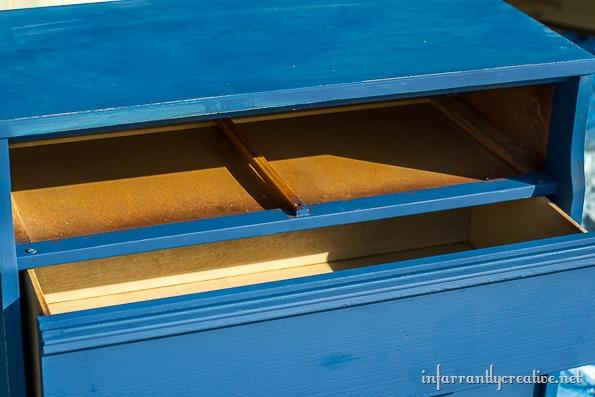 DIY Herringbone Dresser Made With Paint Sticks