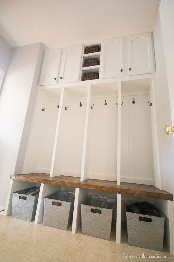 Mudroom Locker Final Reveal